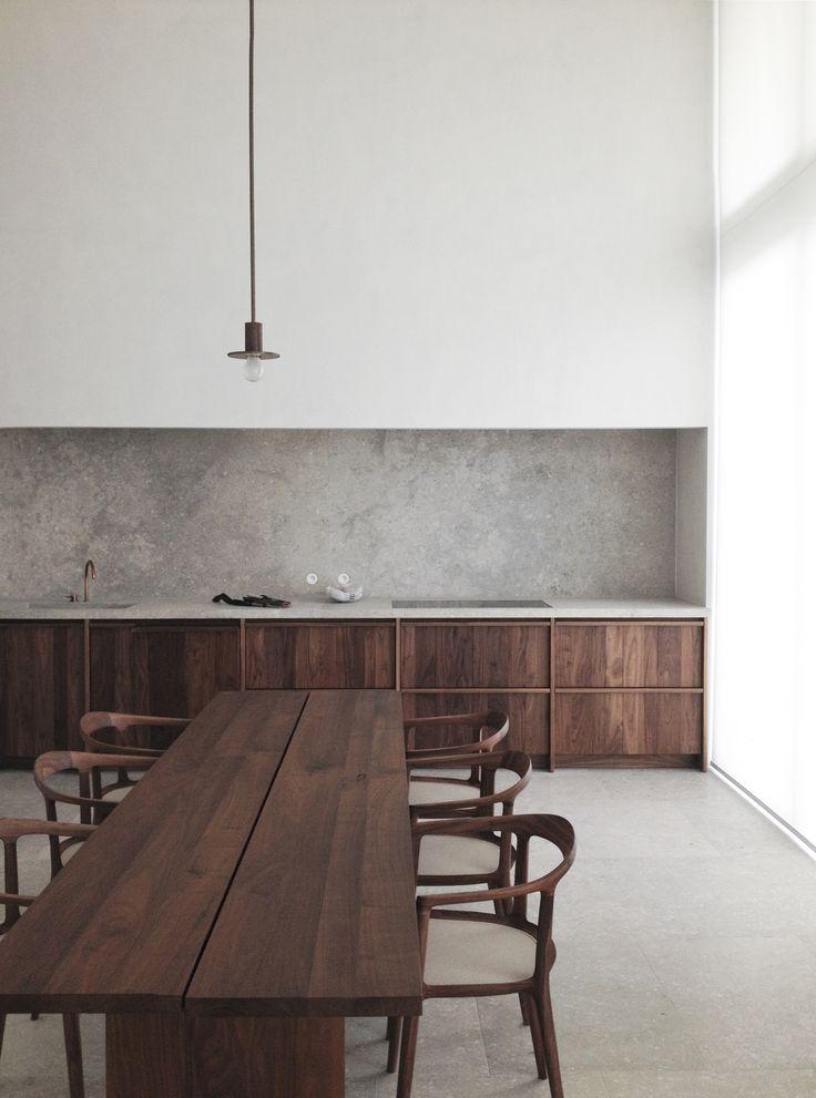#dining rooms #tables #walnut - Penthouse S Westkaai Antwerp Hans Verstuyft Architecten