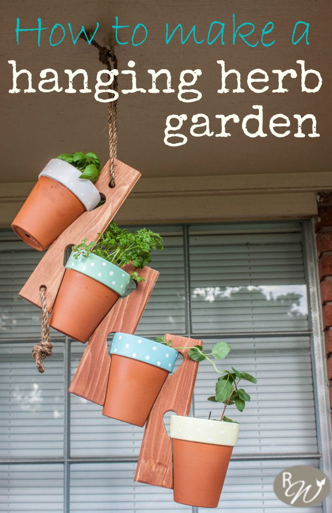 The cutest hanging herb garden you ever did see  | therusticwillow.com