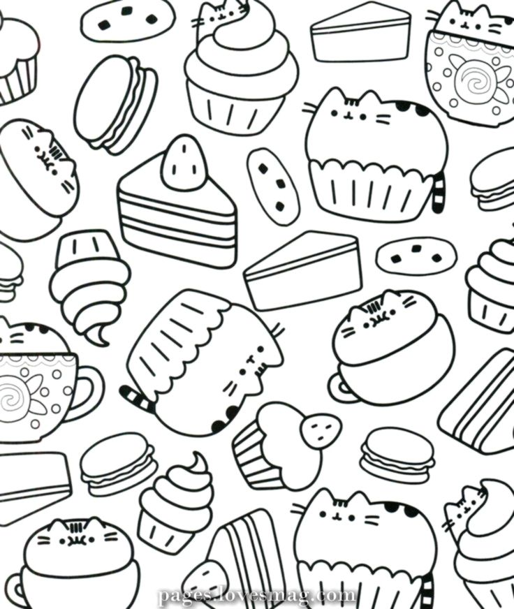 Lovely Coloring Pages Pusheen In 2020 Disney Coloring Pages Cupcake Coloring Pages Cute Coloring Pages