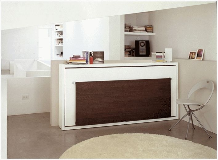 A Clever Murphy Bed with Desk