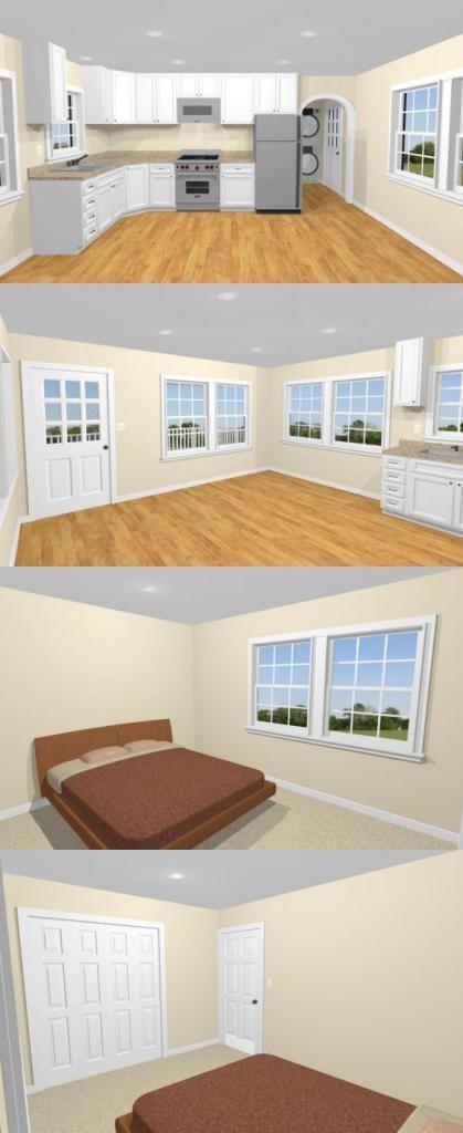 16x32 Tiny House -- #16X32H9B -- 647 sq ft - Excellent Floor Plans