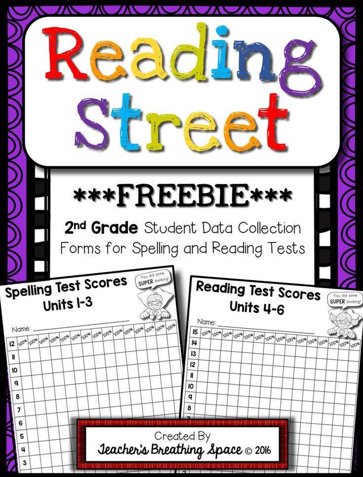 2nd Grade Reading Street Student Data Collection Forms for Weekly Spelling / Reading Tests ***FREEBIE***