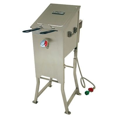 Bayou Classic 700-701 4 Gallon Deep Fryer - Stainless Steel (Silver) (Glass)