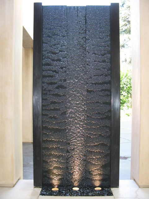 water wall. I want a biger one in front of a building.: