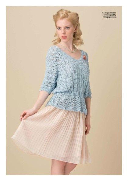 대바늘 도안 : 봄바람부는 니트 도안, 봄에 입는 스웨터 패턴 : 네이버 블로그