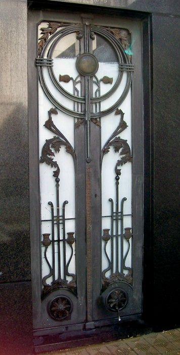 Art Deco Door in Buenos Aires, Argentina Cementerio de la Recoleta