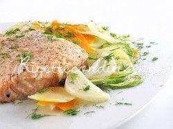 Ricetta Filetto di salmone al cartoccio con verdure di Manlio Midori