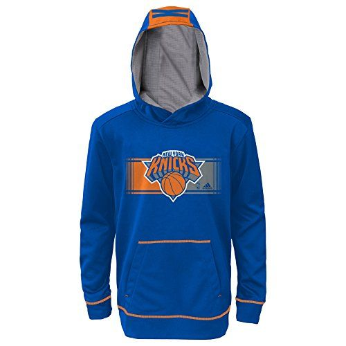 NBA New York Knicks Youth Boys 820 Pullover Hood Blue Medium 1012 *** Want to know more, click on the image.