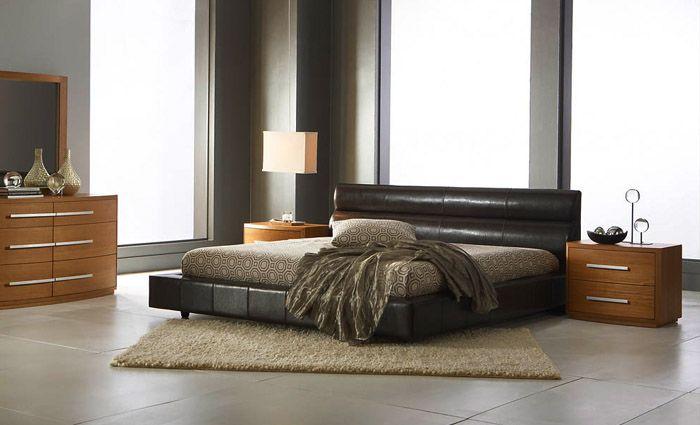 luxueus lederen bed voor een luxueze slaapkamer inrichting