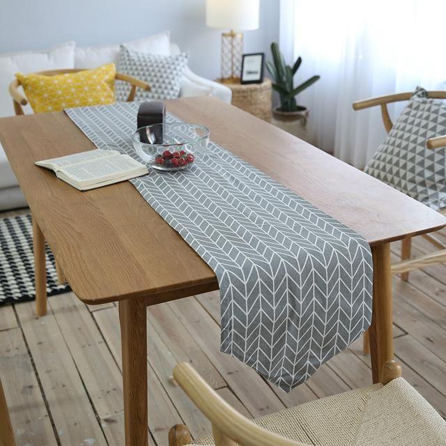 Table Runner Linen Modern Table Runners Decoration Track On The