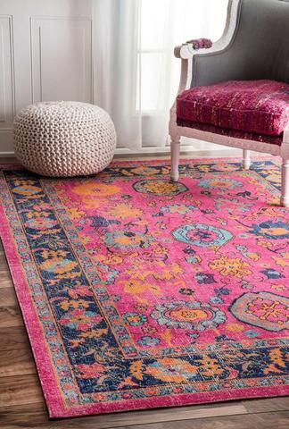 Peacock Ivory Transitional Rug In 2018 Home Pinterest Pink Rug