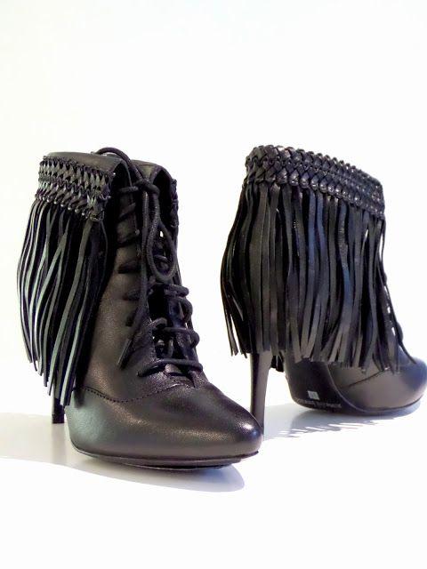 balmain fringed boots