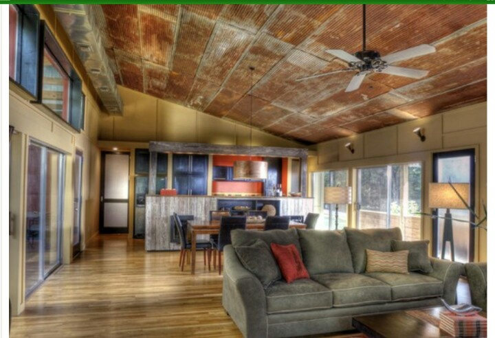 rustic tin ceiling would love to do this in the living room and