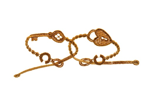 Braccialetto Cruciani Chiave e Lucchetto Oro - Cruciani Bracelets Lock and Key Gold