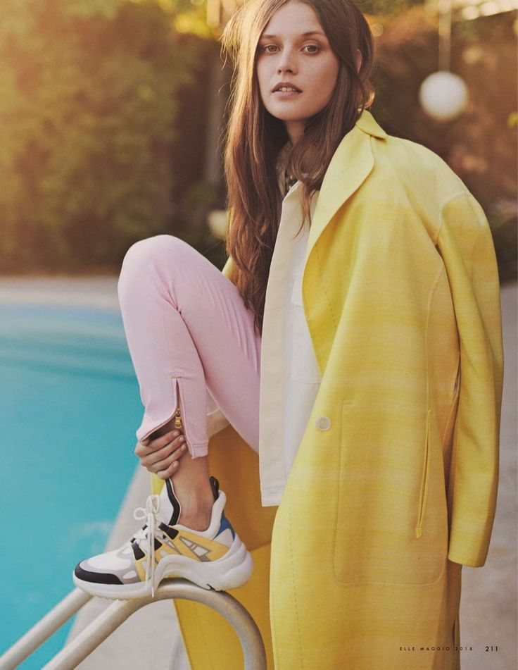 Angel Rutledge | ELLE Italy | 2018 Cover | Pastel Fashion Editorial