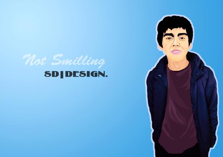 Not smilling vektor