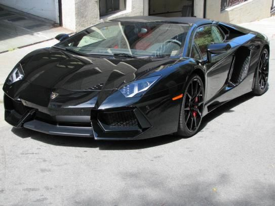 2015 lamborghini aventador roadster lp 700 4 black with blackred interior rims dione forged branding package with travel package brakes calipe