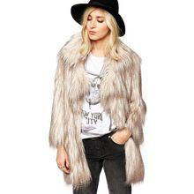 2015 koop gewone rits v- hals bontjassen aierwill nieuwe fashion faux bontjas kleur pauw gradiënt herfst winter v haken gesp(China (Mainland))