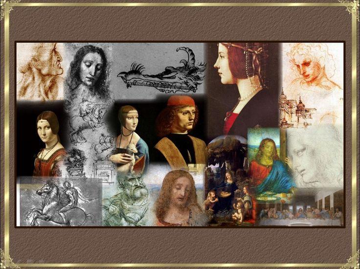"""""""Тайная вечеря"""" Леонардо да Винчи-Картины и рисунки Леонардо да Винчи -коллаж-иллюстрация"""
