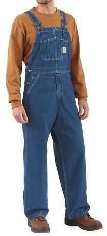 Carhartt Denim Bib Overalls - Unlined (For Men): Get it for $24.99 (was $29.99) #coupons #discounts