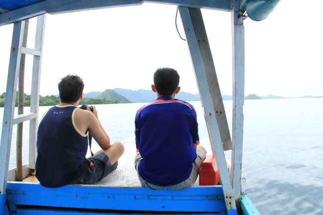 Me and my friend Juan from Costarica. We're going to Komodo National Park.