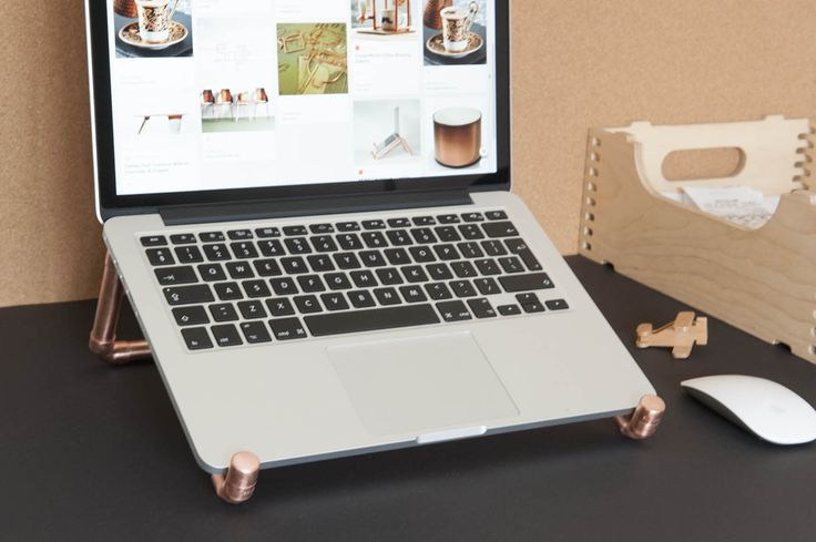 Elevate your laptop screen with this laptop stand, yet still be able to use the trackpad - genius!