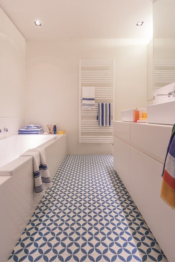 Choose Vinyl For Your Bathroom Floor To Add Style While Remaining Practical Pictured Here