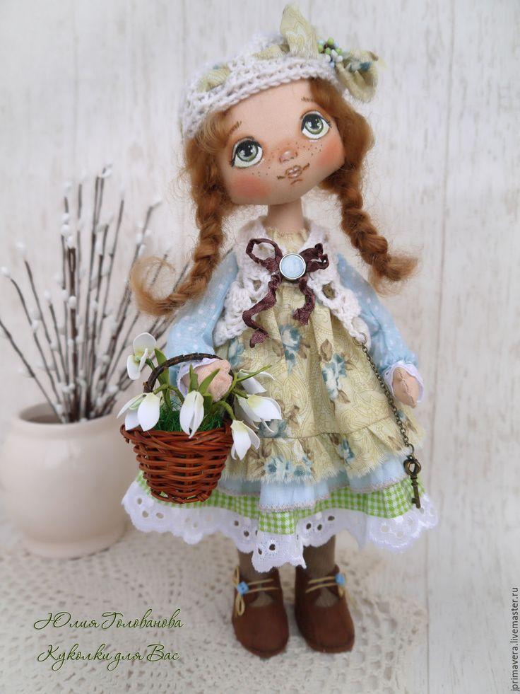 """Купить Текстильная кукла """"Олечка - Приближение весны"""" - текстильная кукла…"""
