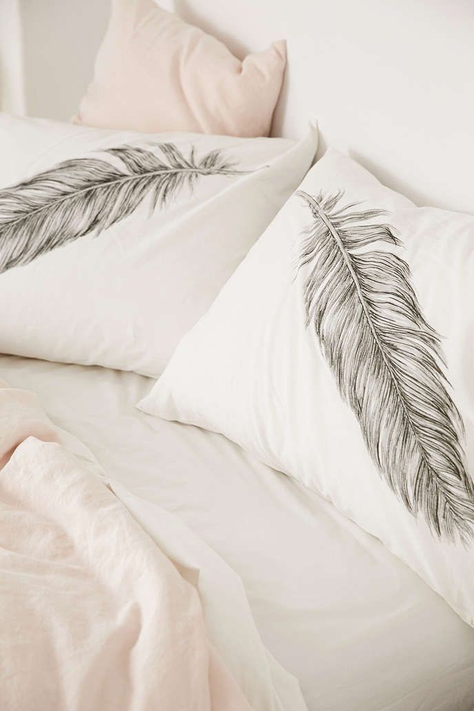 Plum & Bow Feather Pillowcase Set - Urban Outfitters