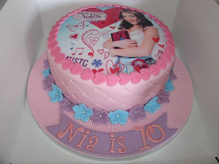 Disney's Violetta Fondant Cake - (Feb 2014) Edible Topper of Violetta. Hope you like it!! xMCx