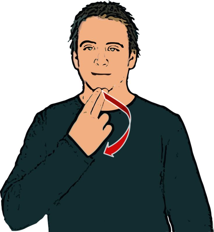 Afternoon - Tips of index & middle finger ('N' shape) touch chin then wrist twists so finger tips are facing forwards. British Sign Language (BSL)