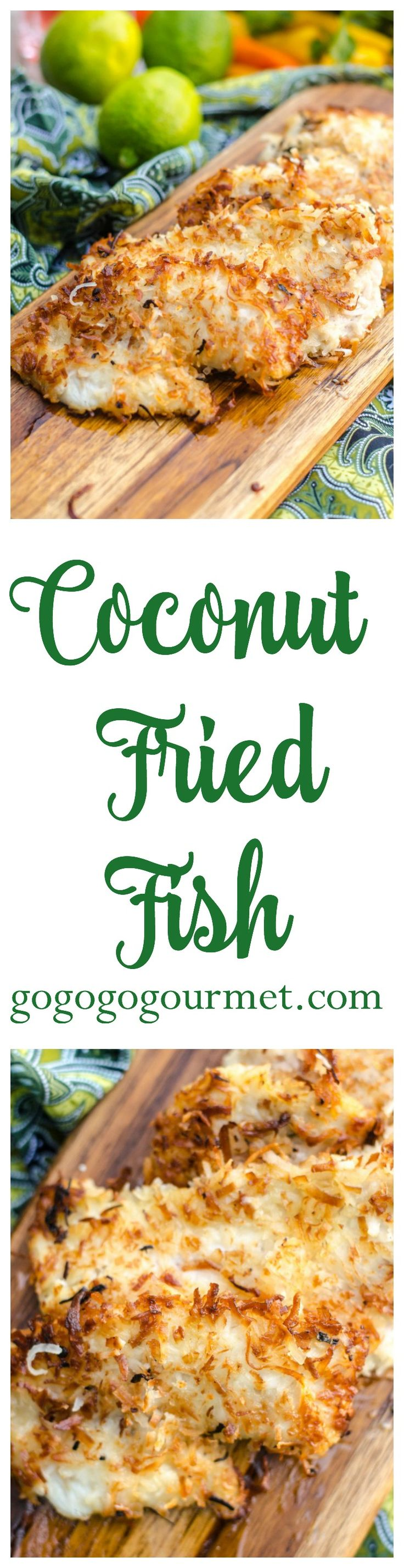 This Coconut Crusted Fried Fish is a surefire way to add a little island flair to your day! Only a handful of pantry-ready ingredients and ready in under 30 minutes. Coconut Fried Fish | Go Go Go Gourmet @gogogogourmet