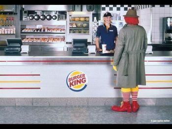 tada tatatà i'm loving it.  Burger king Vs Mc Donalds