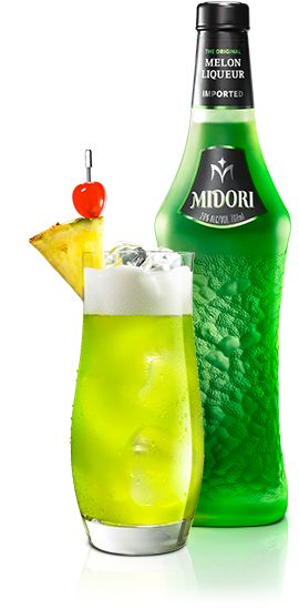 MIDORI SPLICE is a classic cocktail made with MIDORI. Here are the ingredients. 1 part Midori® Melon Liqueur,1 part Cruzan® Coconut Rum,3 parts pineapple juice,1 part cream,Pineapple wedge/slice for garnish
