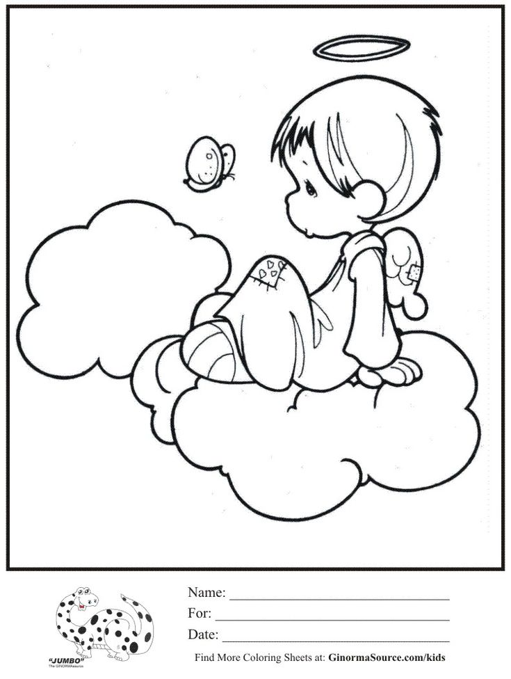 40 best coloring precious moments - angels images on pinterest ... - Coloring Pages Angels Kids