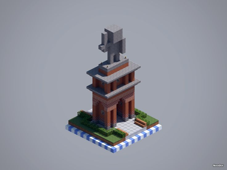 Scale model of house minecraft
