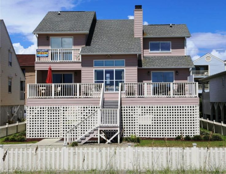 ELLIOTT BEACH RENTALS -Beautiful Luxury Oceanfront Rental Home - Fireplace... - HomeAway - Cherry Grove Beach House Rental - North Myrtle Beach Rental - 4 Bedrooms 4 Full Baths W/ Bedroom Loft