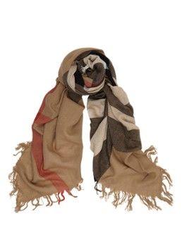 BURBERRY Vierkante sjaal van merino wol 110 x 110 cm