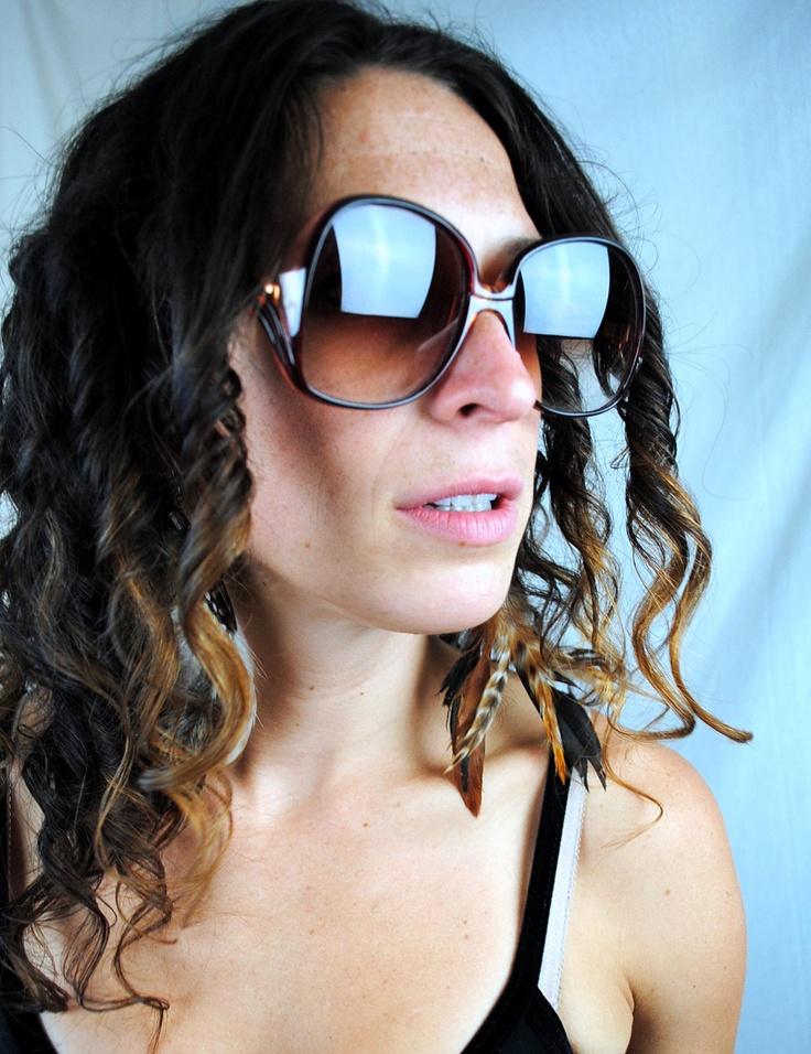 Vintage Big 80s Gloria Vanderbilt Sunglasses. $38.00, via Etsy.