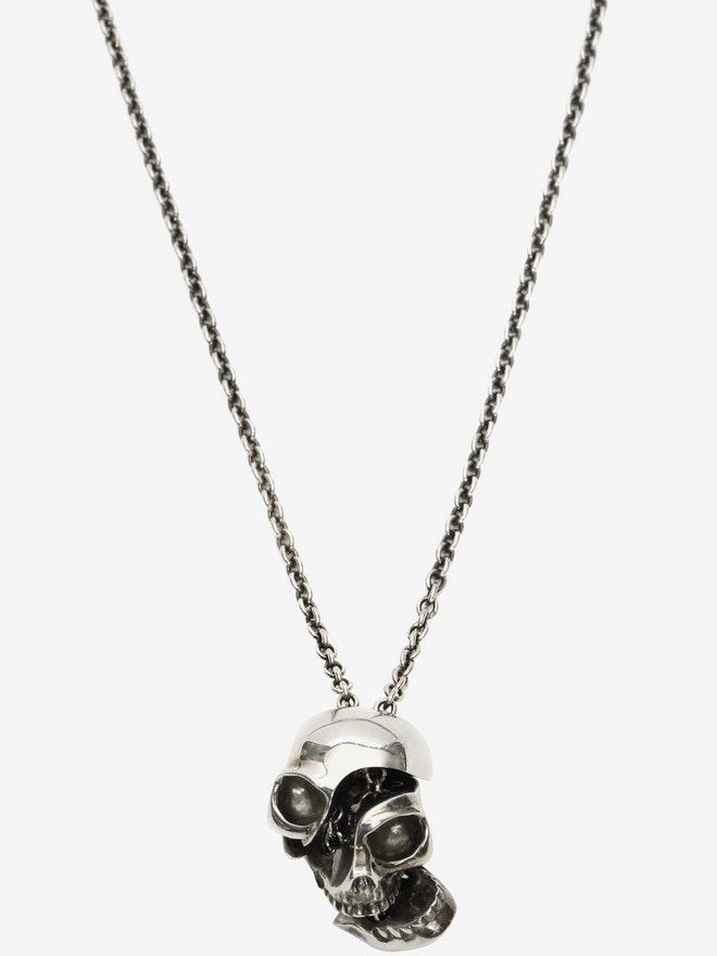 ALEXANDER MCQUEEN Divided skull pendant Necklace U r