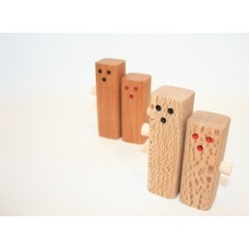 Salt and Pepper people made from New Zealand timbers