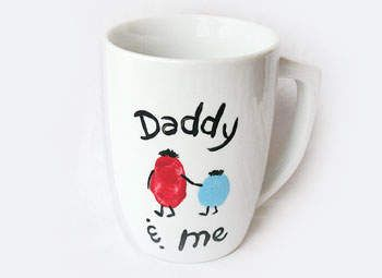 Fathers Day Crafts: Dad & Me Coffee Mug - Kids Gift Ideas for Dad - Kaboose.com