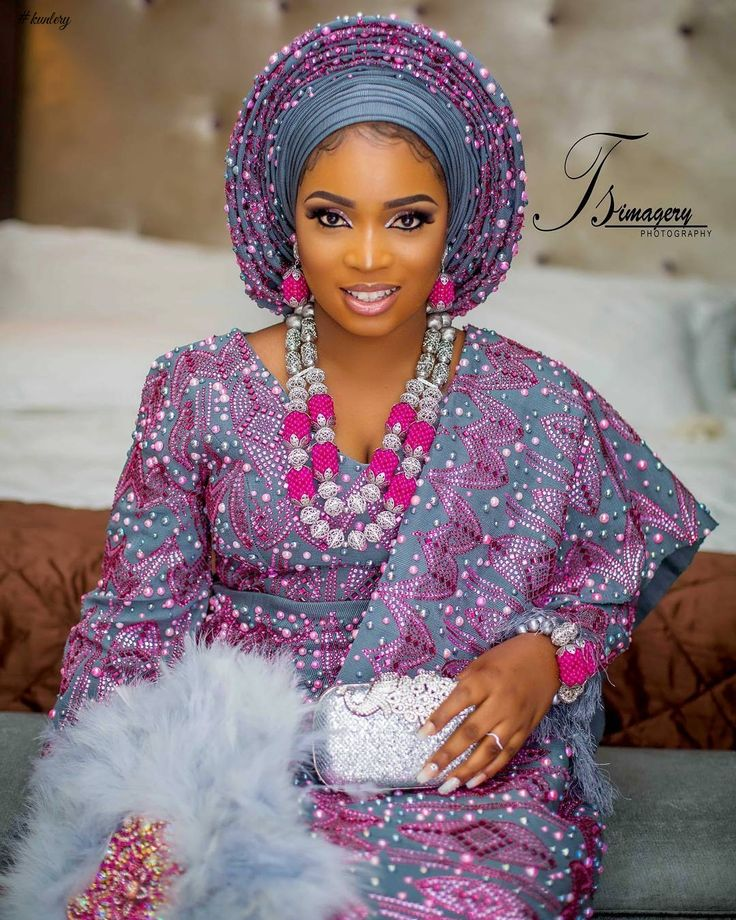 STUNNING AND SPARKLING, THE LATEST BRIDAL ASO OKE IN TOWN