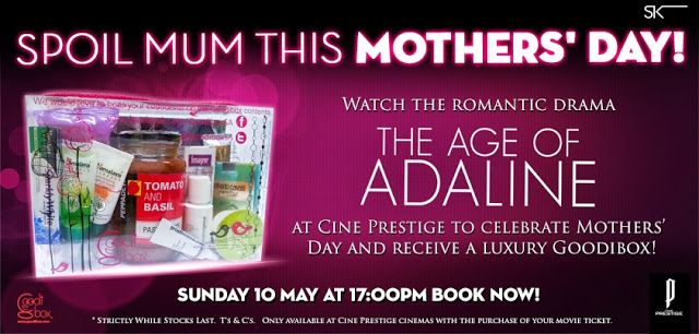 entertainment, movies and theatre, ster kinekor, ster kinekor mothers day, ster kinekor pre-screening, ster kinekor special screening��|��No comments��|��{Info Flash} - Special Pre-screening of Age of Adeline @Cine Prestige for Mother's Dayby�Heather de BruinFriday, May 08, 2015{Info Flash} - Special Pre-screening of Age of Adeline @Cine Prestige for Mother's Day