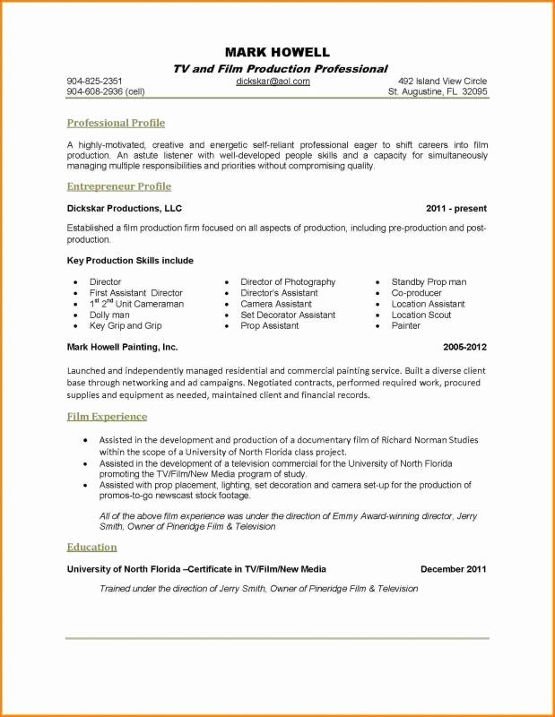 One Page Resume Examples New E Page Resume Examples One Page Resume Resume Examples Good Resume Examples
