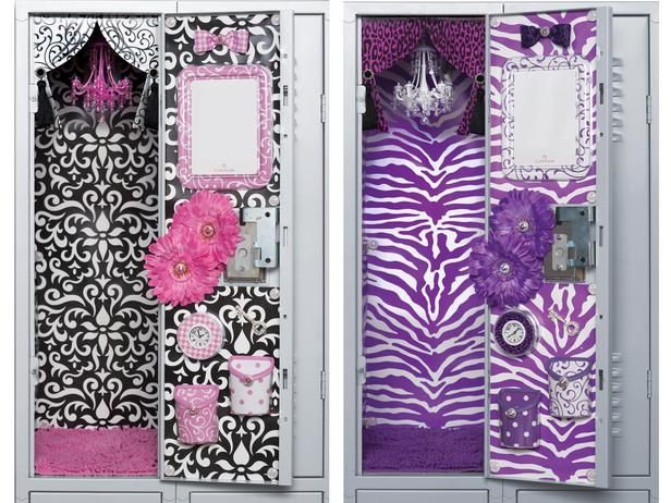 teen girls can express their personal style at school with decorating ideas and products from lockerlookz - Locker Designs Ideas