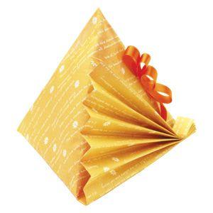 包装部:ラッピング方法>バリエーション>三角形包みC