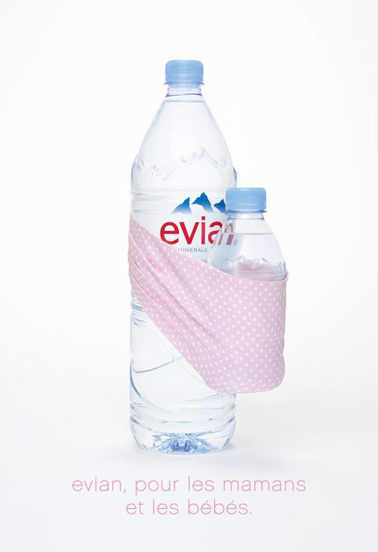 evian water: for moms and babies.