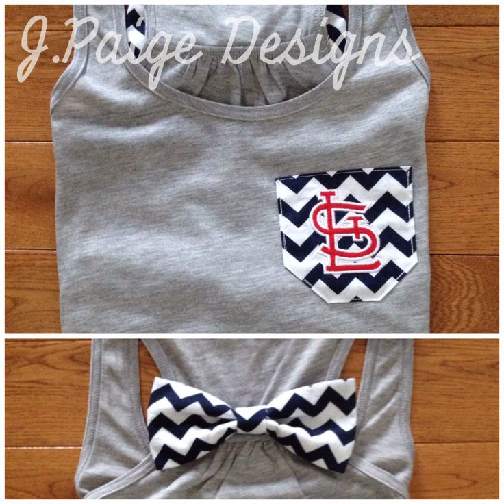 St. Louis Cardinals Tank Top with bow $25 J.Paige Designs jpaigedesigns13@gmail.com