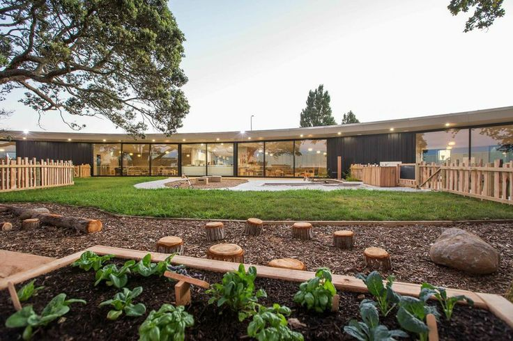 Veggie patch at Chrysalis Early Learning Centre designed by Phill Smith Architects. This is the perfect design to nurture young minds and connect our children to nature.